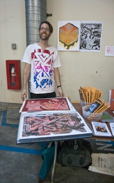 Alex Scramble and his pocket posters...